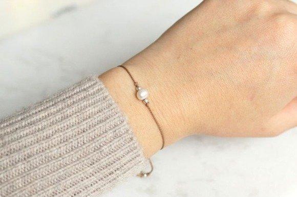 Anioł - pozłacana bransoletka z kryształem lodowym