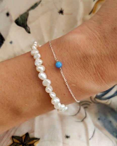 Magiczny Opal bransoletka z niebieskim opalem