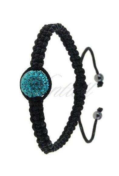 Rope bracelet (925) turquoise 1 disco ball