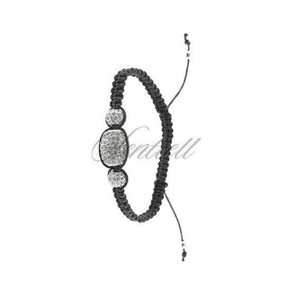 Rope bracelet (925) white oval
