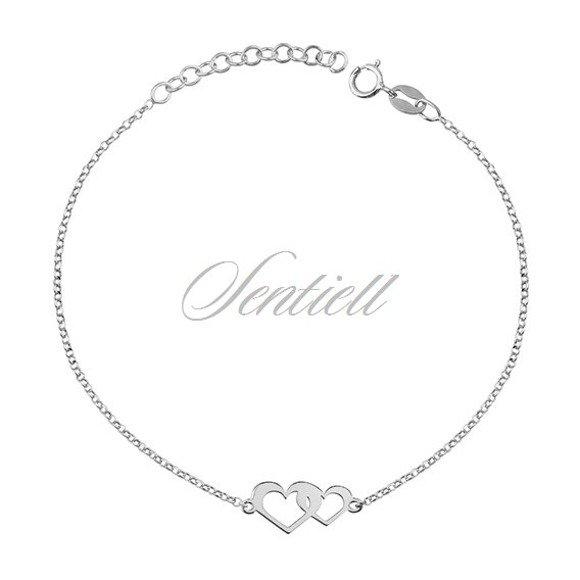 Silver (925) bracelet - hearts