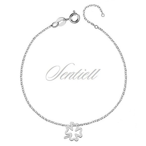 Silver (925) bracelet with clover