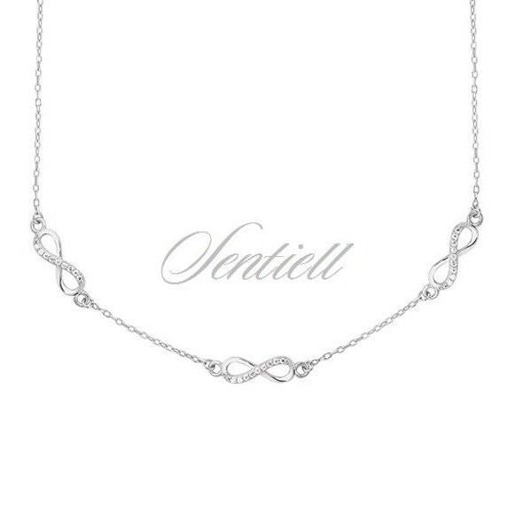 Silver (925) necklace Infinity with zirconia