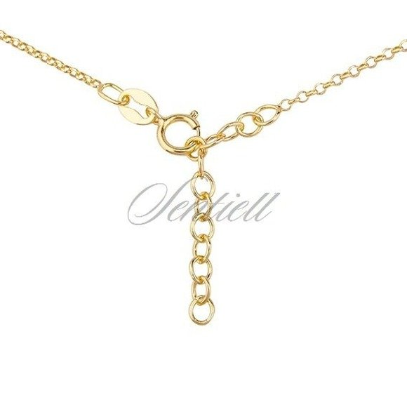 Silver (925) necklace with folower, gold-plated