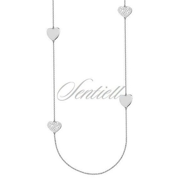 Silver (925) necklace with four hearts