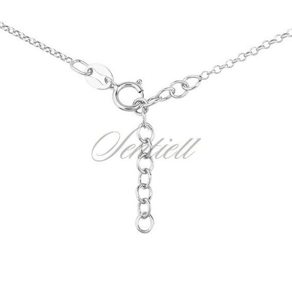 Silver (925) necklace with heart pendant