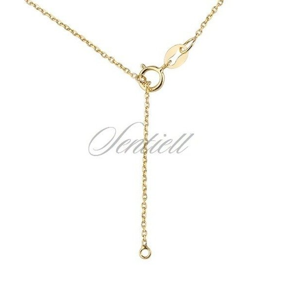 Silver (925) necklace with open-work pendant - gold-plated