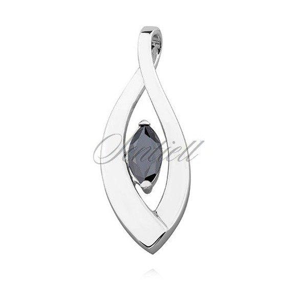Silver (925) pendant black zirconia