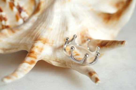 Silver (925) ring - crown