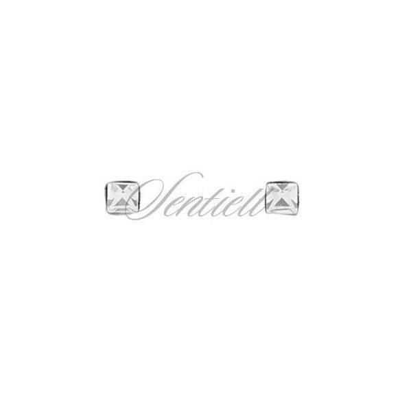 Srebrne pr.925 kolczyki do nosa kwiatki z cyrkonią w opakowaniu