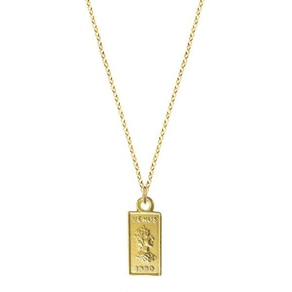 Venus necklace 925 gold-plated