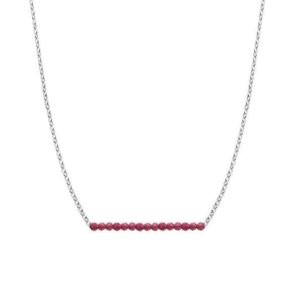 LIPIEC - naszyjnik srebrny z rubinem
