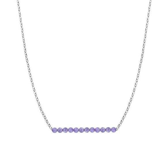 LUTY - naszyjnik srebrny z ametystem
