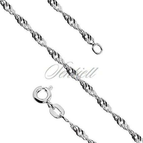 Łańcuszek srebrny singapur pr. 925 Ø 040