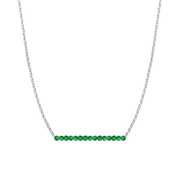 MAJ - naszyjnik srebrny ze szmaragdem