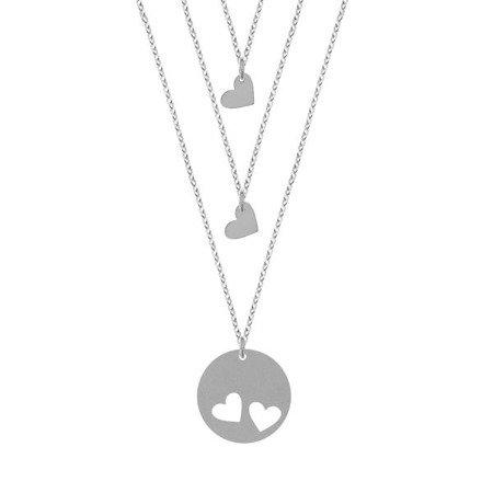 Mother & Daughter komplet srebrnych naszyjników dla mamy i dwóch córek