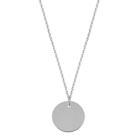 Naszyjnik z blaszką srebrny
