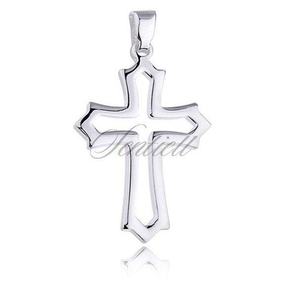 Srebrny krzyż (pr.925) krzyżyk połysk