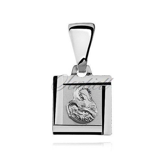 Srebrny medalik Matka Boska karmiąca