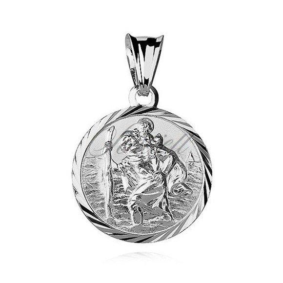 Srebrny medalik pr.925 Święty Krzysztof