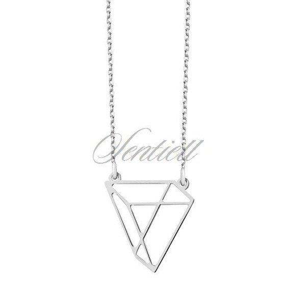 Srebrny naszyjnik pr.925 - Origami trójkąt
