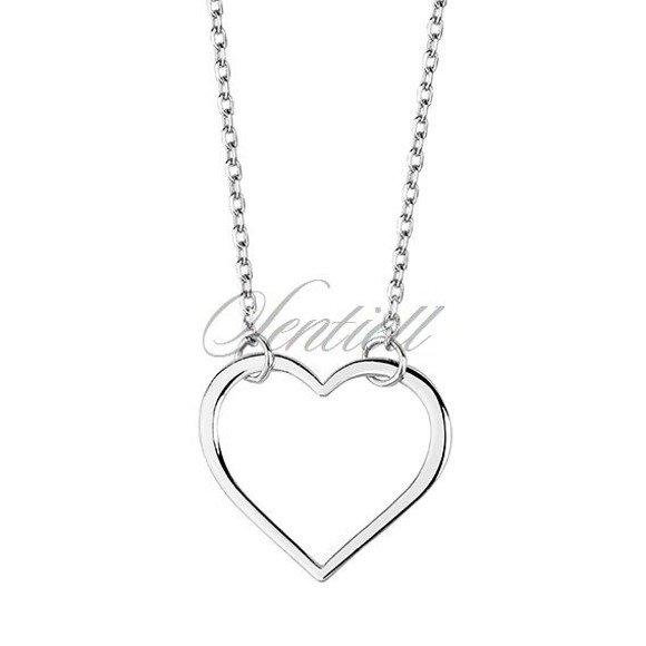 Srebrny naszyjnik pr.925 minimalistyczne serce