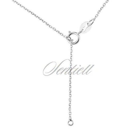 Srebrny naszyjnik pr.925 z ażurową zawieszką