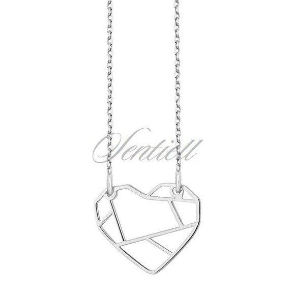 Srebrny naszyjnik serce origami pr.925