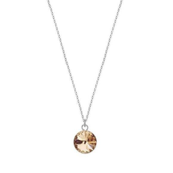 Srebrny naszyjnik z kryształem Swarovskiego Silk F pr.925