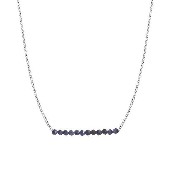 WRZESIEŃ - naszyjnik srebrny z szafirem